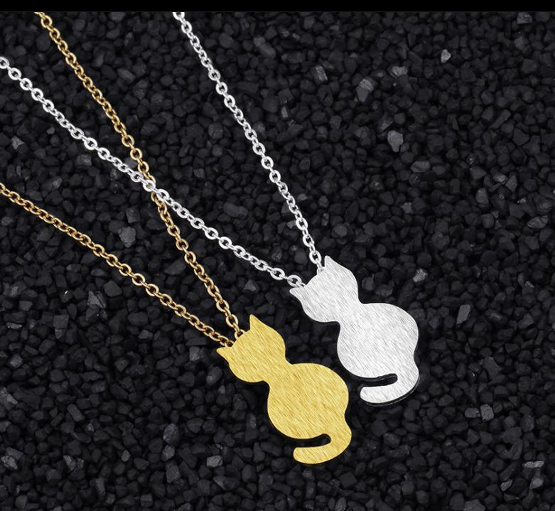 Curious Cat Shaped Necklaces