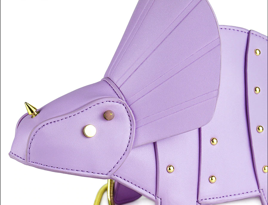 Purple Dino Fashion Bag