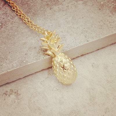 Pineapple Pendant Chain Necklace