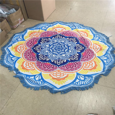 Mandala Lotus Flower Beach Cloth
