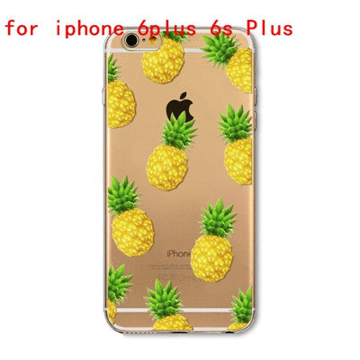 Tropical Transparent iPhone Case