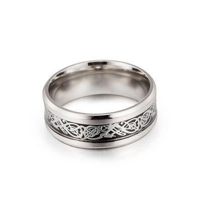 Stainless Steel Dragon Pattern Ring