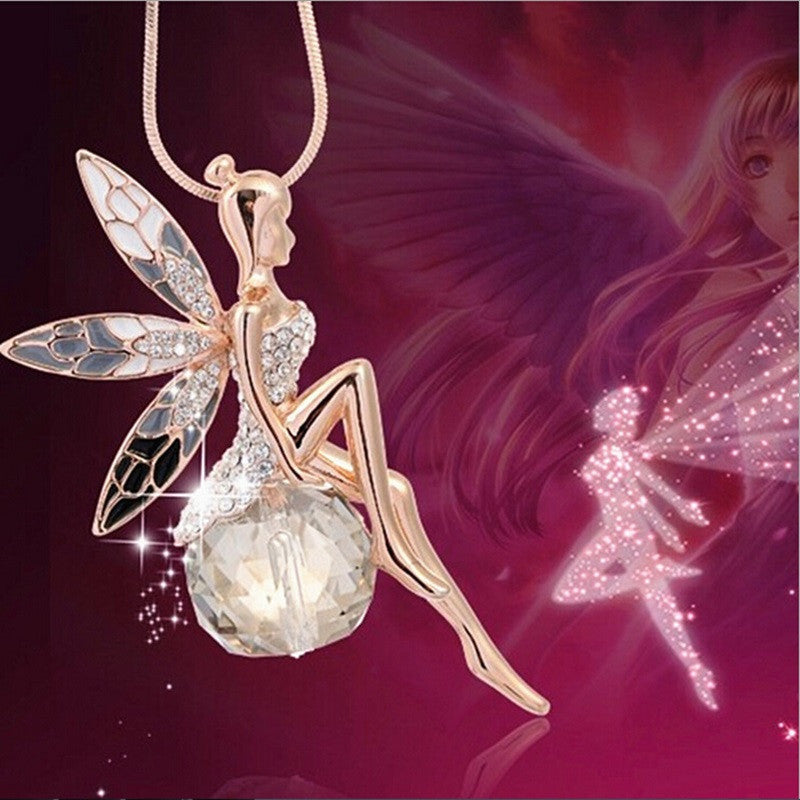 Fairy Crystal Ball Necklace
