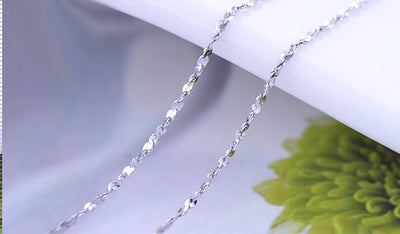 925 Sterling Silver Starry Necklace Chain