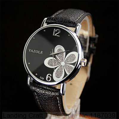 Quartz Flower Wristwatch