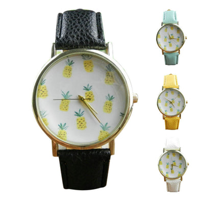 Pineapple Leather Watch