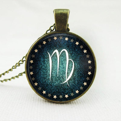 Milky Way Zodiac Glass Pendant
