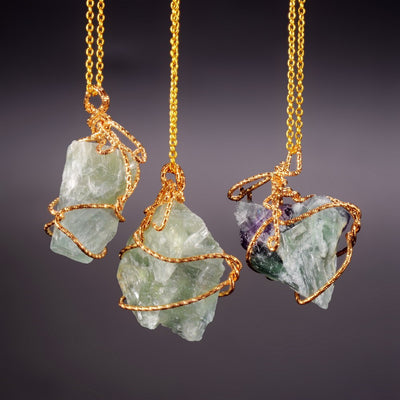 Natural Stone Pendant Necklaces