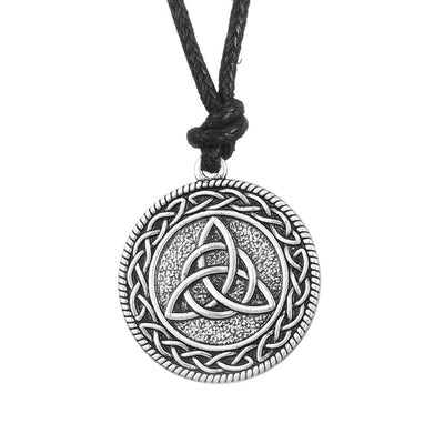 Celtic Trinity Knot Medallion Necklace