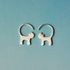 Lovely 925 Silver Cat Tail Earrings