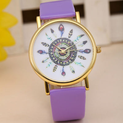 Feather Dial Quartz Watch