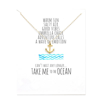 Take Me to the Ocean Anchor Necklace