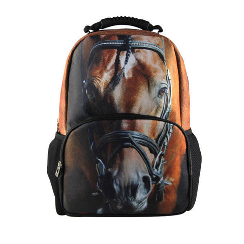 Premium 3D Horse Print Backpack