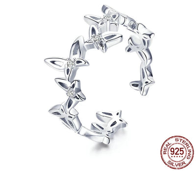 Butterfly Beautiful Silver Ring