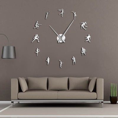 Tennis Lover Frameless Wall Clock