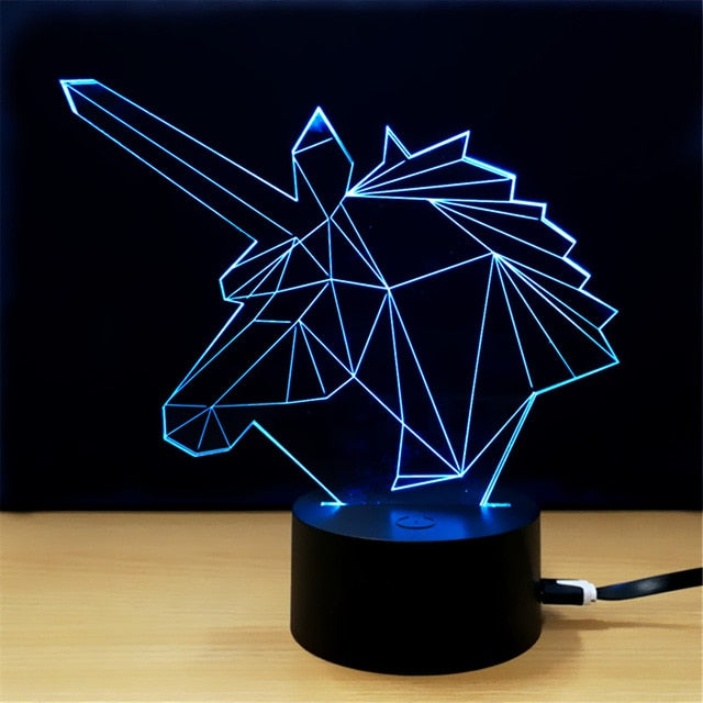 Unicorn 3D Decorative LED Lamp