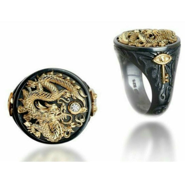 Punk Dragon Golden Ring
