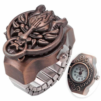 Dragon Vintage Finger Watch Ring