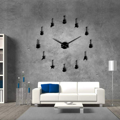 Guitar Frameless Wall Clock