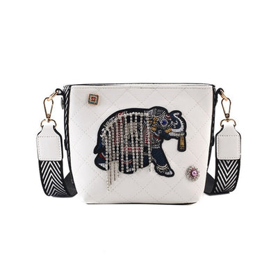 Elephant Leather Messenger Handbag