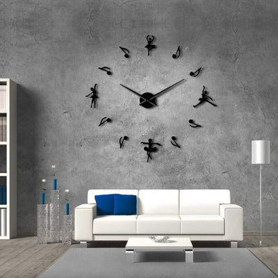 Ballerinas Adorable Frameless Wall Clock