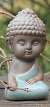 Peaceful Buddha Ceramic Figurines