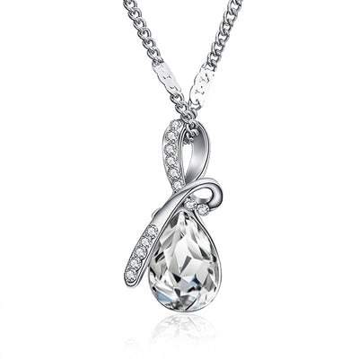 Austrian Crystal Waterdrop Pendant Necklace