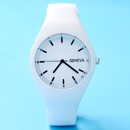 Geneva Movement Silicone Candy Color Watch