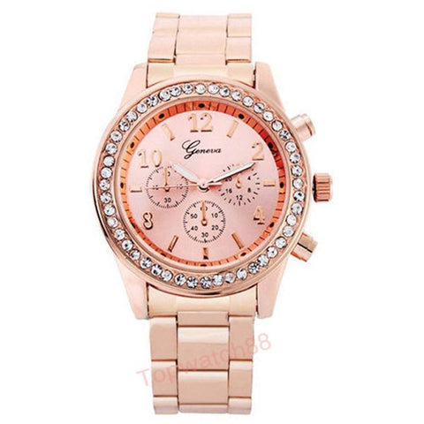 Women's Watch - Geneva Unisex Quartz Wristwatches Bling