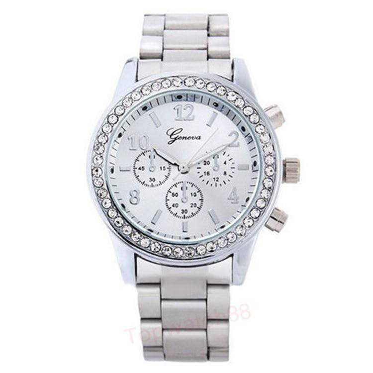 Geneva Unisex Quartz Wristwatches Bling