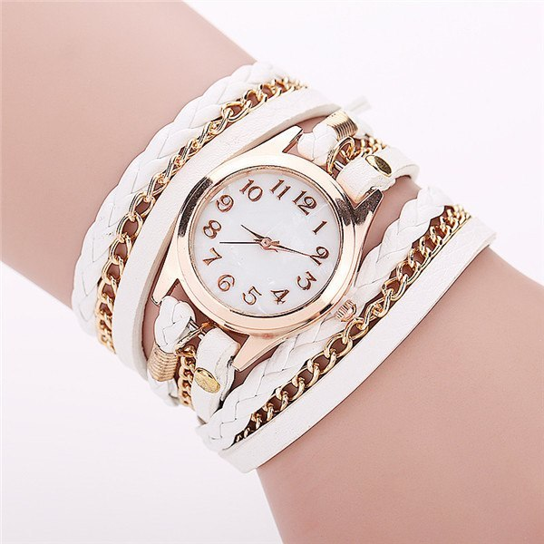 Retro Vintage Gold Dial Dress Watch