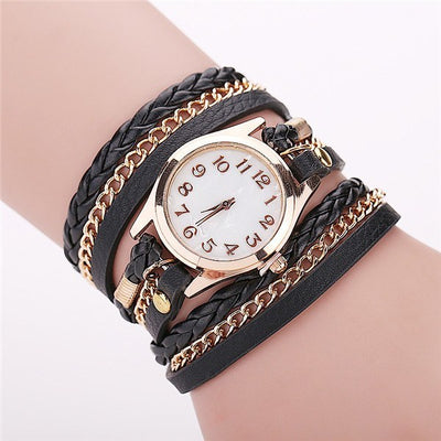 Women's Watch - Retro Vintage Gold Dial Dress Watch