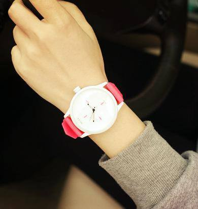 Women's Watch - Silicone Strap Jelly Quartz Wristwatch