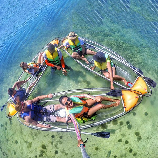 Mangrove Glass-Bottom Kayak and Snorkel