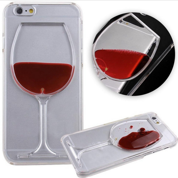 3-D Liquid Flow Wine Glass Cover Case for iPhone