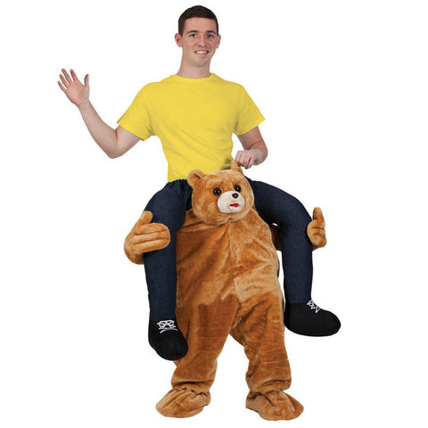 Cute Bear Carry Me Ride On Stag Mascot Costume