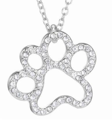 Cat Crystal Pendant Necklaces