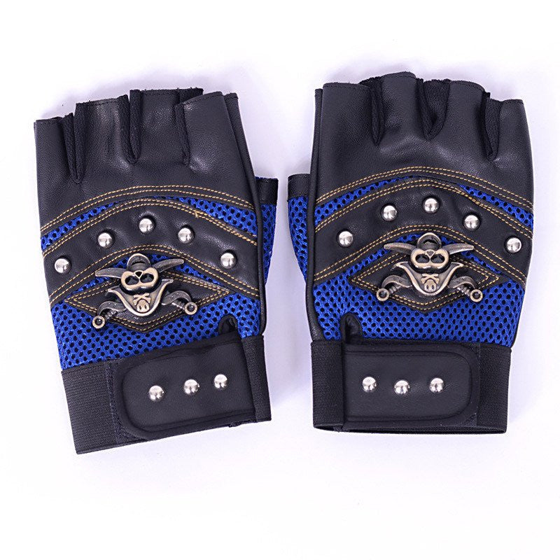 Leather Motorcycle Cross Racing Gloves
