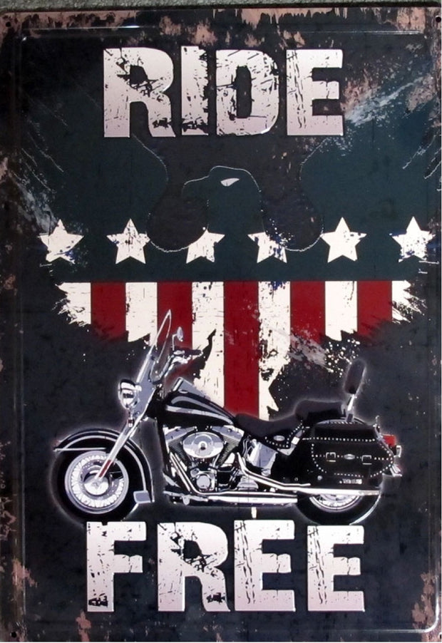 METAL RIDE FREE SIGN