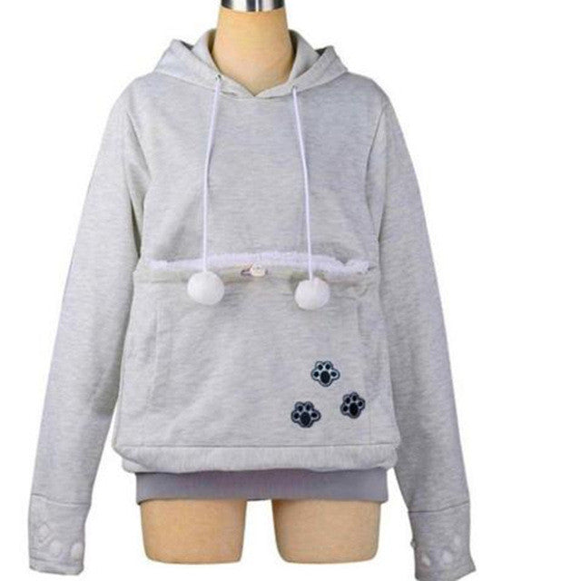 DOGCAT LOVERS HOODIE WITH DOGCAT CUDDLE KANGAROO POUCH Daz Deals - Hoodie with kangaroo pouch is the perfect cat accessory