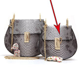 Chained Serpentine leather messenger bag
