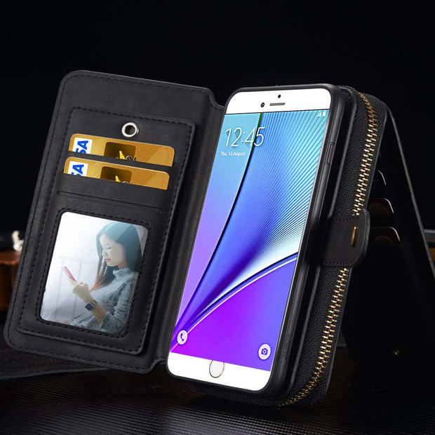 Business Card Slot Wallet Holster for Samsung GALAXY NOTE 5