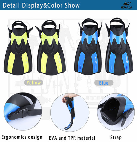Adult Snorkeling Diving Swimming Fins