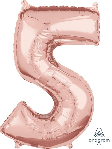 "26"" Rose Gold Number Balloons"
