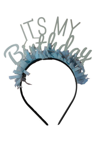 It's My Birthday Headband (light blue)