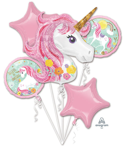 #89 Unicorn Balloon Bouquet (Pastel)