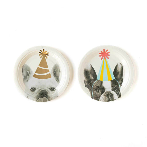 Party Animal Dog Plates