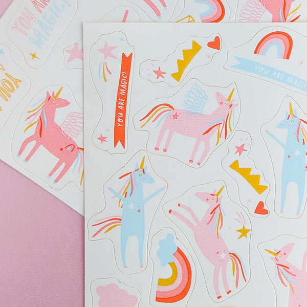 Edible Stickers- Unicorns Rule
