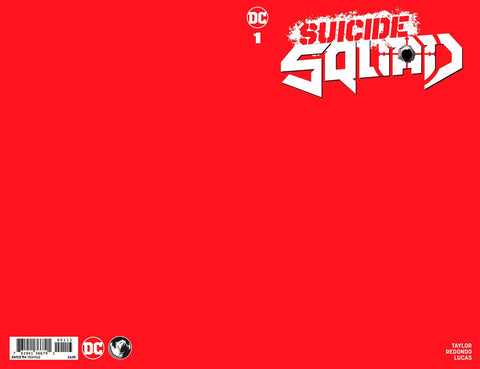 Suicide Squad #1 Red Blank Sketch Cover