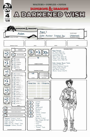 DUNGEONS & DRAGONS A DARKENED WISH #4 (OF 5) CVR B CHARACTER - 1/15/20